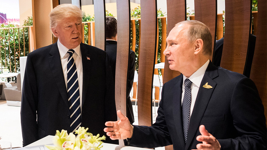 Donald Trump and Vladimir Putin - G20 Nations Hold Hamburg Summit - Getty - H 2017