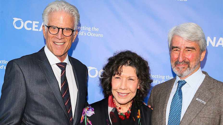Ted Danson, Lily Tomlin and Sam Waterston - 10th Annual SeaChange Summer Party - Getty - H 2017