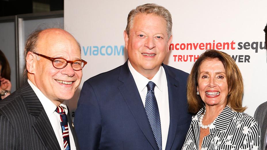 Steve Cohen, Al Gore and Nancy Pelosi - An Inconvenient Sequel Screening - Getty - H 2017