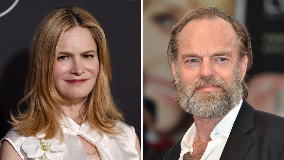Jennifer Jason Leigh Hugo Weaving - Getty - H Split 2017