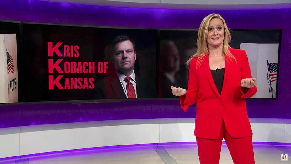 Kris Kobach  and Full Frontal on TBS Screen shot-H 2017