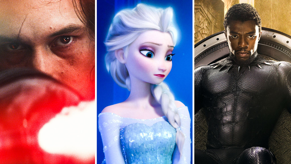 Star Wars- The Last Jedi, Frozen and Black Panther - Split - Photofest - H 2017