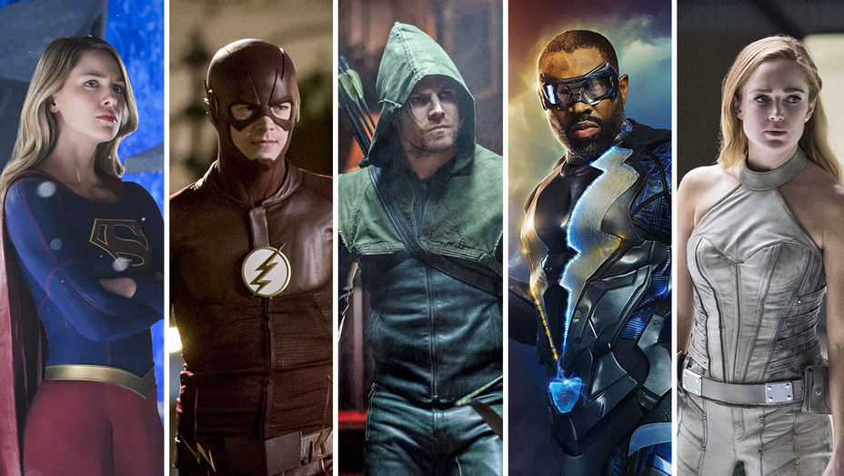 Supergirl_Flash_Green Arrow_Black Lightning_White Canary_Split - Publicity - H 2017