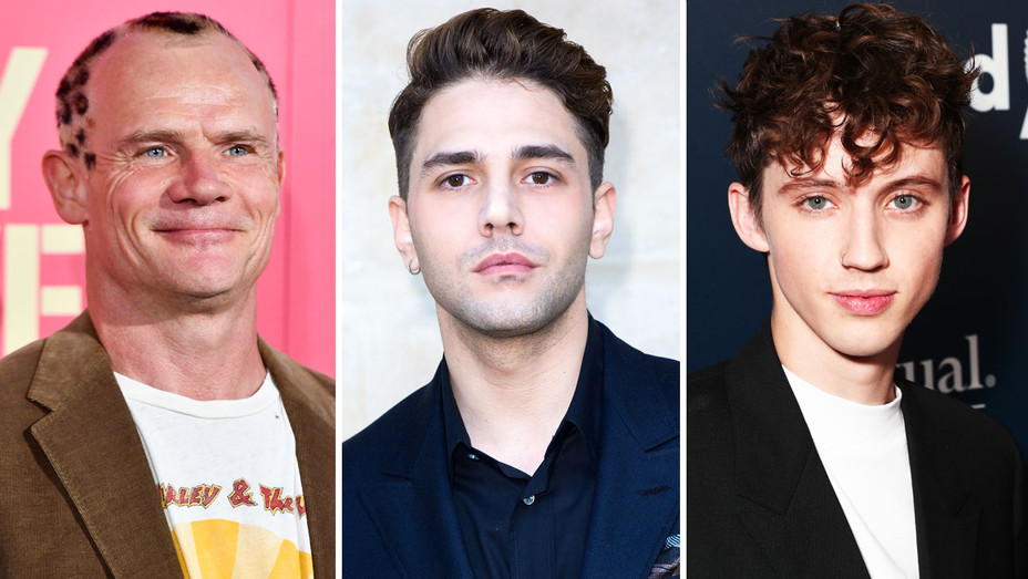 Flea, Xavier Dolan and Troye Sivan - Split - Getty - H 2017