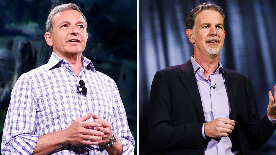 Bob Iger and Reed Hastings - Split - Getty - H 2017
