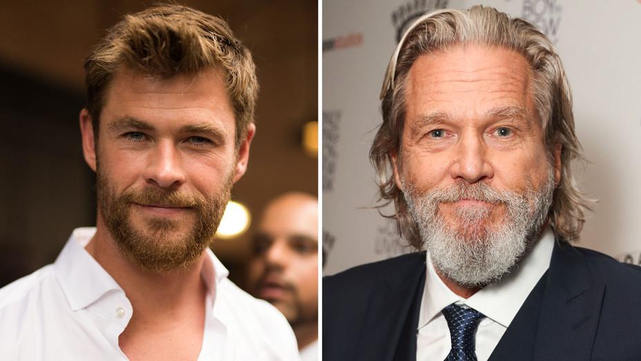 Chris Hemsworth and Jeff Bridges - Split - Getty - H 2017