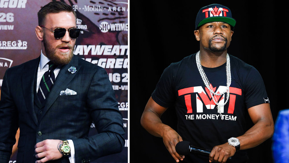Conor McGregor and Floyd Mayweather Watches - Split - Getty - H 2017
