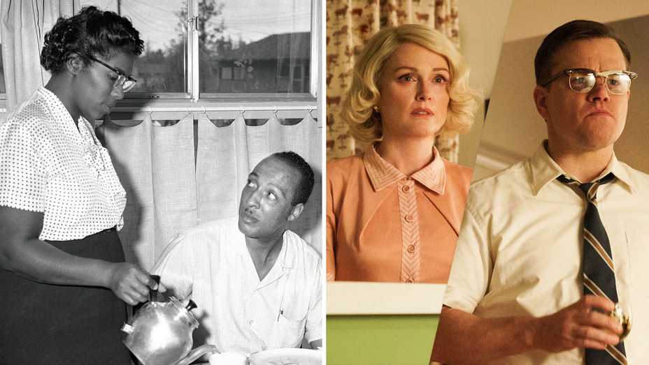 Daisy, William Myers and Suburbicon Still - Split - One Time Use Only - AP - H 2017