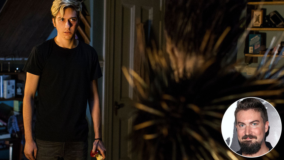 Death Note and Inset of Adam Wingard - Getty-H 2017
