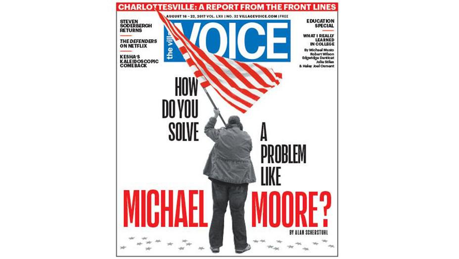 Village Voice Cover Michael Moore - Screenshot - H 2017
