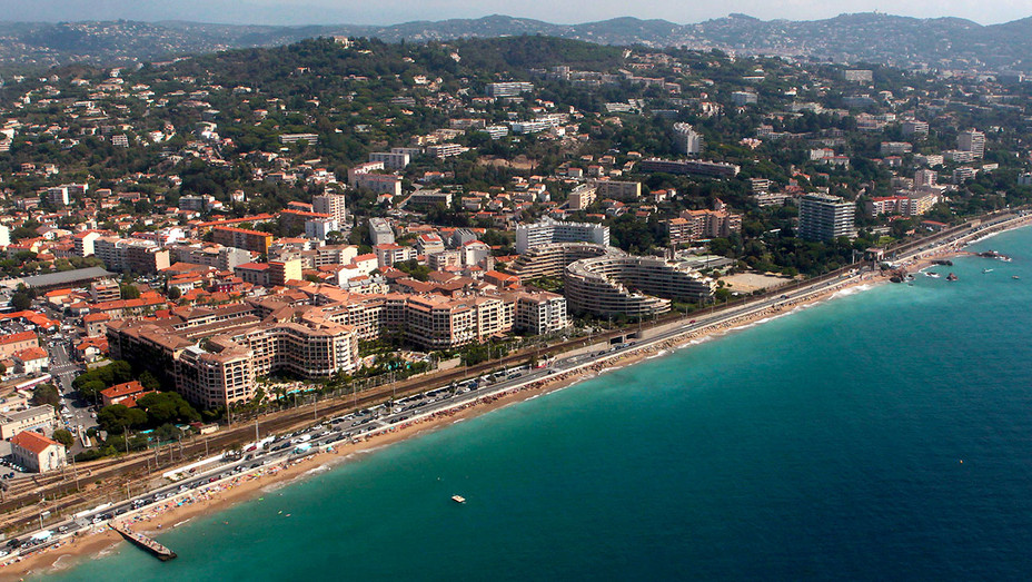 French southeastern city of Cannes - on the French Riviera -aerial view -Getty -H 2017