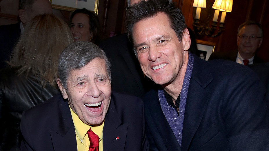 Jerry Lewis and Jim Carrey - 90th Birthday Celebration of Jerry Lewis -Getty-H 2017