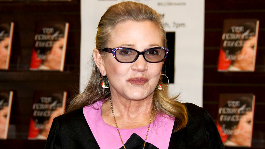 Carrie Fisher signs copies of her new book The Princess Diarist -Getty-H 2017