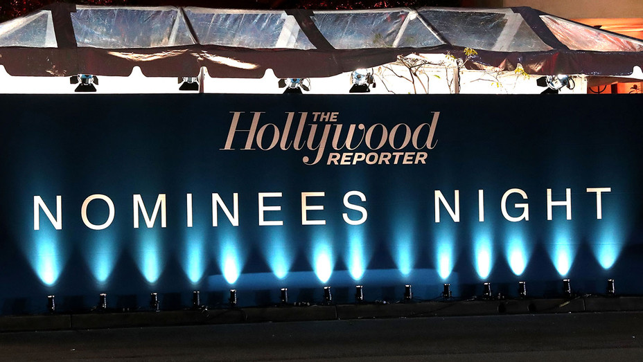 Signage displayed at The Hollywood Reporter 5th Annual Nominees Night at Spago - Getty-H 2017