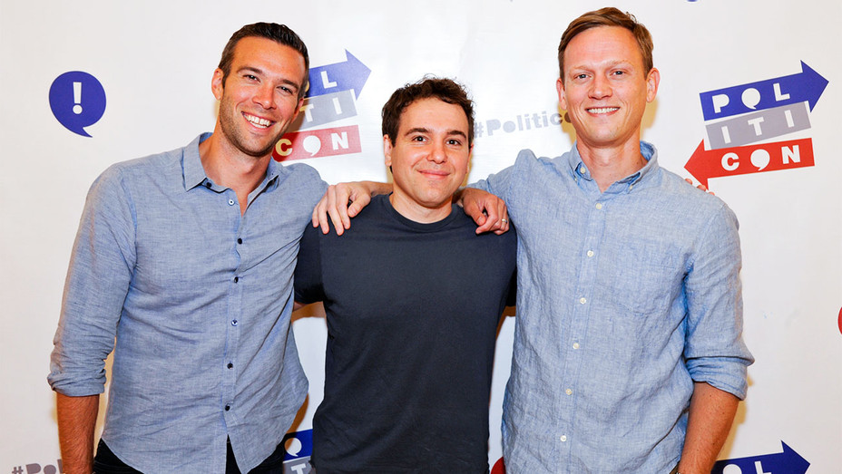 Jon Favreau, Jon Lovett and Tommy Vietor - Politicon 2017 Day 1 - Getty - H 2017