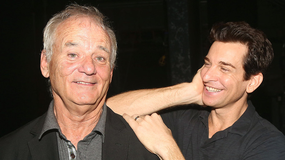 Bill Murray and Andy Karl - Backstage Groundhog Day on Broadway -Getty-H 2017