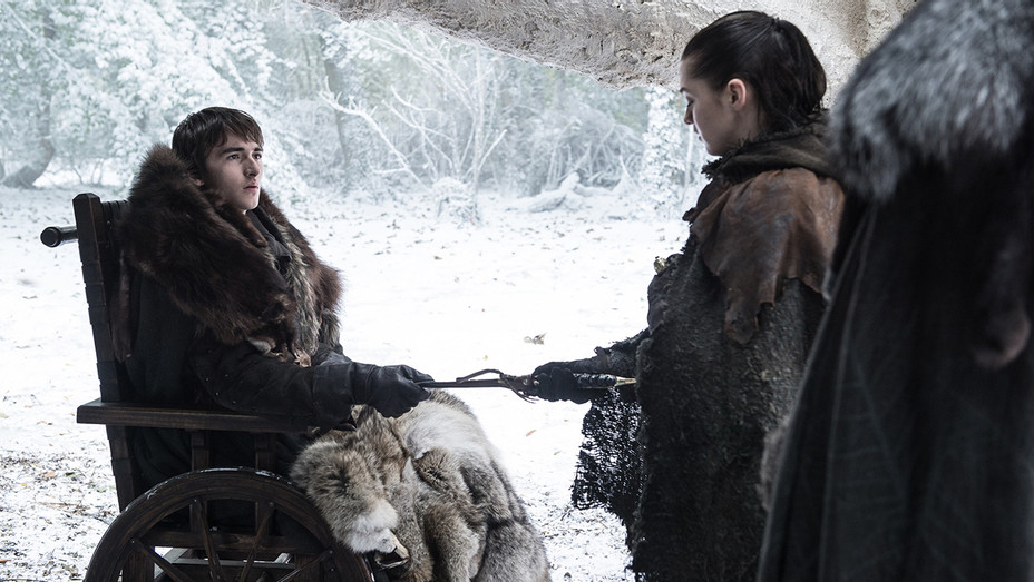 Game of Thrones - Isaac Hempstead Wright as Bran and Maisie Williams as Arya – H Publicity 2017