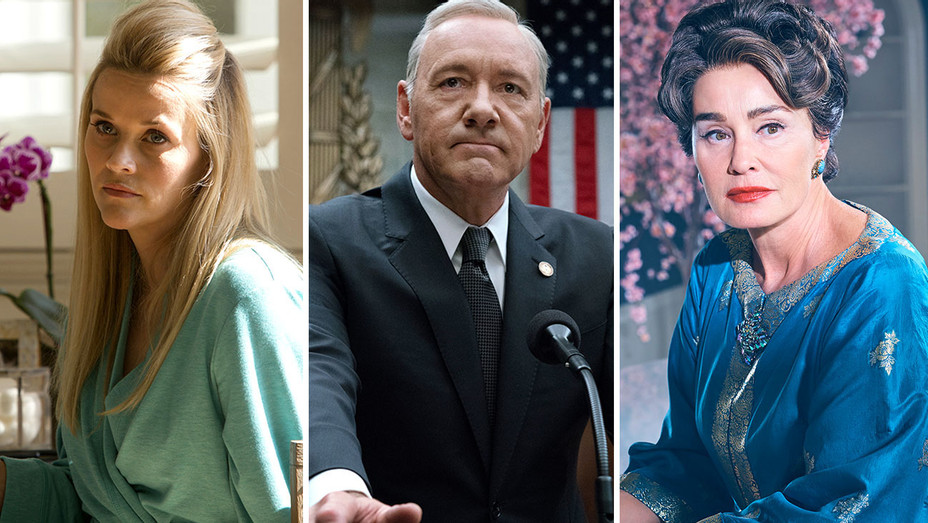 Reese Witherspoon big little lies- Kevin Spacey house of cards - Jessica Lange feud-Split-H 2017
