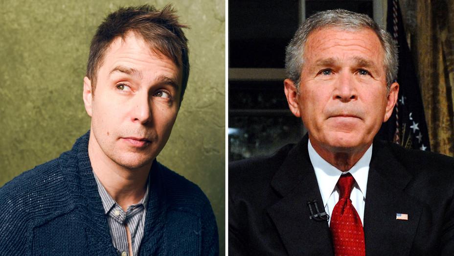 Sam Rockwell and George W. Bush - Split - Getty - H 2017