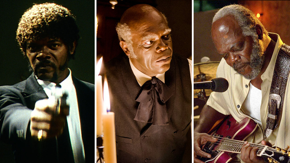 Samuel L. Jackson in Pulp Fiction, Django Unchained and Blake Snake Moan -Split-H 2017