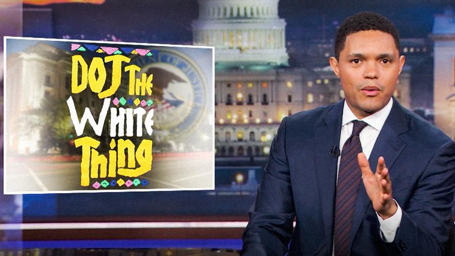 The Daily Show with Trevor Noah DOJ The White Thing - Screenshot - H 2017