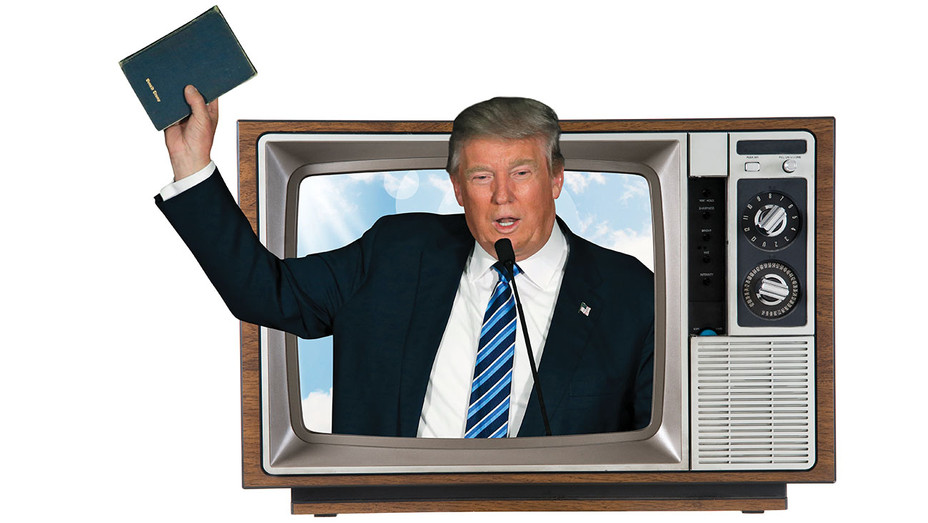 Trump TV - Photo Illustration - One Time Use Only - AP - H 2017