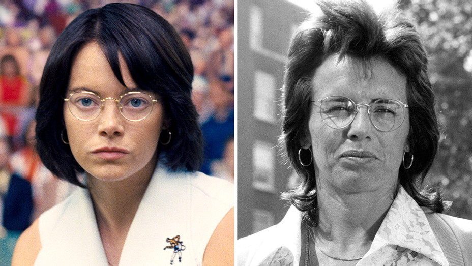 BATTLE OF THE SEXES - Emma Stone and Billie Jean King-Split-H 2017
