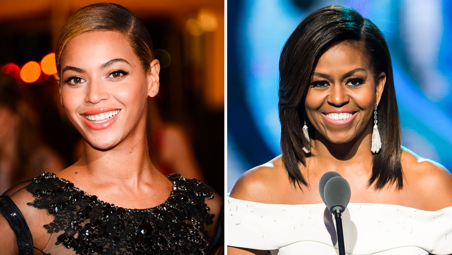 Beyonce and Michelle Obama - Split - Getty - H 2017