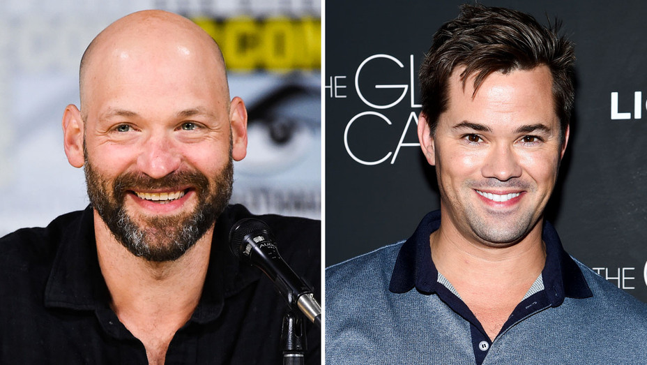Corey Stoll and Andrew Rannells - Split - Getty - H 2017