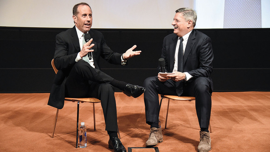 Jerry Before Seinfeld Netflix Screening - Seinfeld and Ted Sarandos -Publicity-H 2017