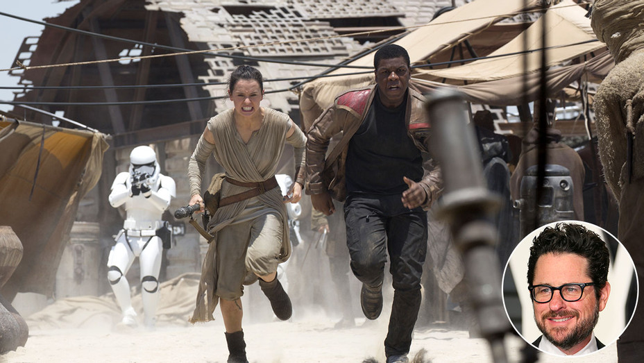 Force Awakens still and inset of JJ Abrams - Photofest-Getty-H 2017