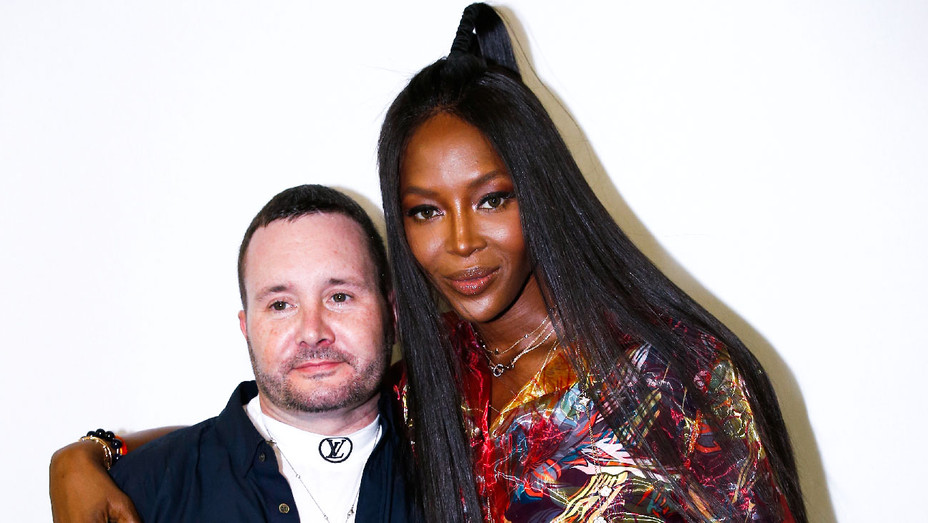 Kim Jones and Naomi Campbell - Louis Vuitton Front Row - Getty - H 2017