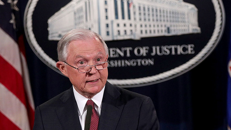 Jeff Sessions speaks on immigration at the Justice Department September 5, 2017 - Getty-H 2017
