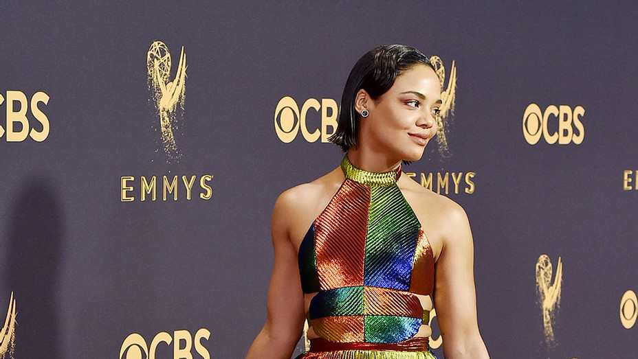 Tessa Thompson attends the 69th Annual Primetime Emmy Awards - Getty -P  2017