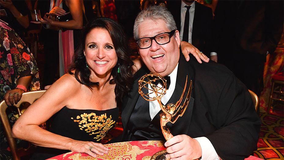Julia Louis-Dreyfus and David Mandel - Emmys - Getty - Embed 2017
