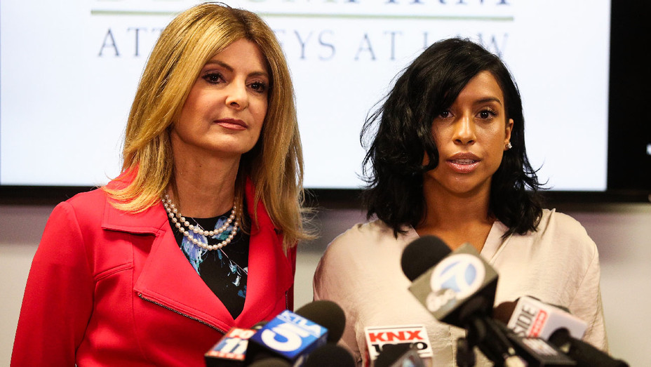 Lisa Bloom and Montia Sabbag Kevin Hart Press Conference - Getty - H 2017