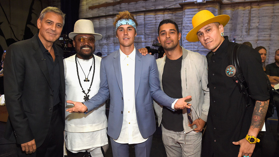 Hand in Hand_George Clooney, will.i.am, Justin Bieber, Wilmer Valderrama and Taboo - Getty - H 2017