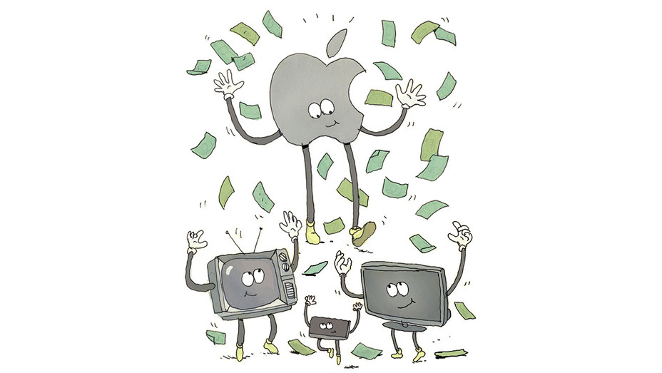 Report -AppleTV Hollywood- Illustration by Victor Kerlow -H 2017