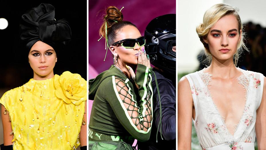 Kaia Gerber, Rihanna, Brock Runway - Split - Getty - H 2017