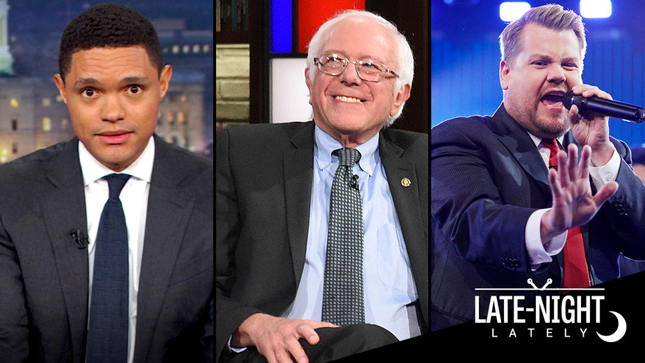 Late Night Lately -9-8-2017- Trevor Noah-Bernie Sanders-James Corden-H 2017