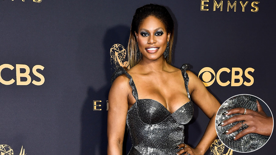 Laverne Cox Emmys Nails Detail - Inset - Getty - H 2017