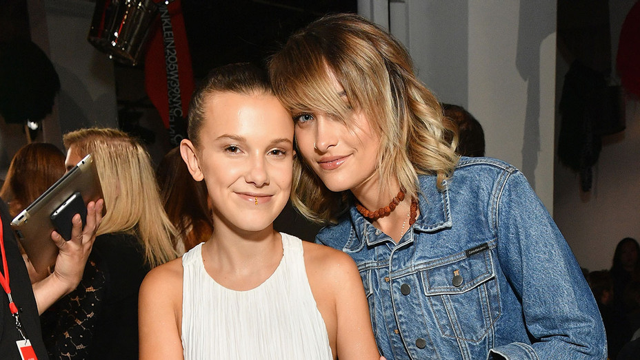Millie Bobby Brown and Paris Jackson attend the Calvin Klein Collection - Getty - H 2017