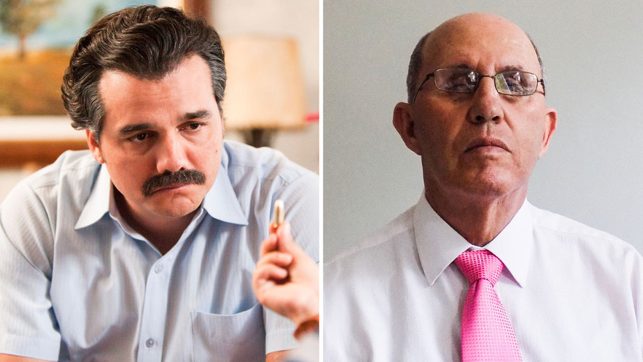 Narcos Still and Roberto Escobar - Split - Publicity - H 2017