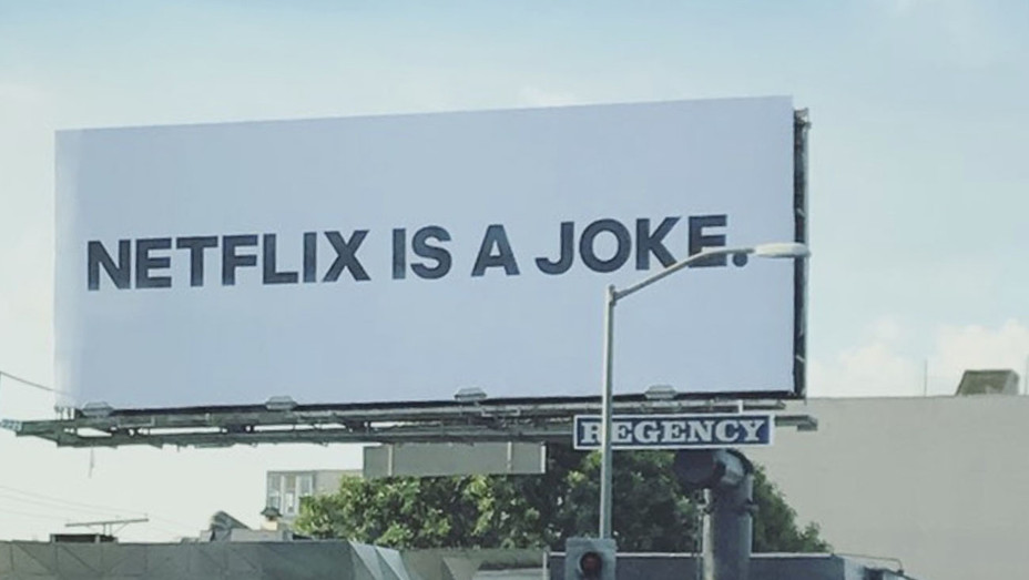 Netflix is a Joke billboard - Publicity - H 2017