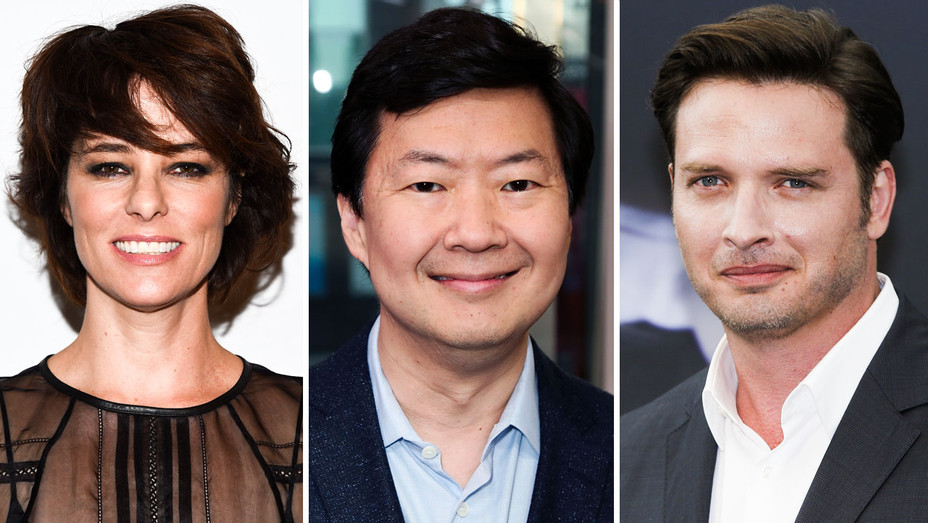 Parker Posey, Ken Jeong and Aden Young - Split - Getty - H 2017
