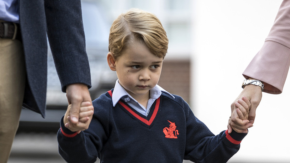 Prince George First Day of School - Getty - EMBED