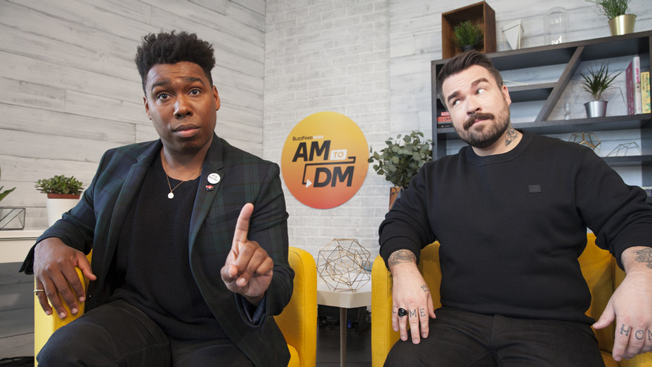 Saeed Jones and Isaac Fitzgerald Hosts of BuzzFeed News AMtoDM - Publicity - H 2017