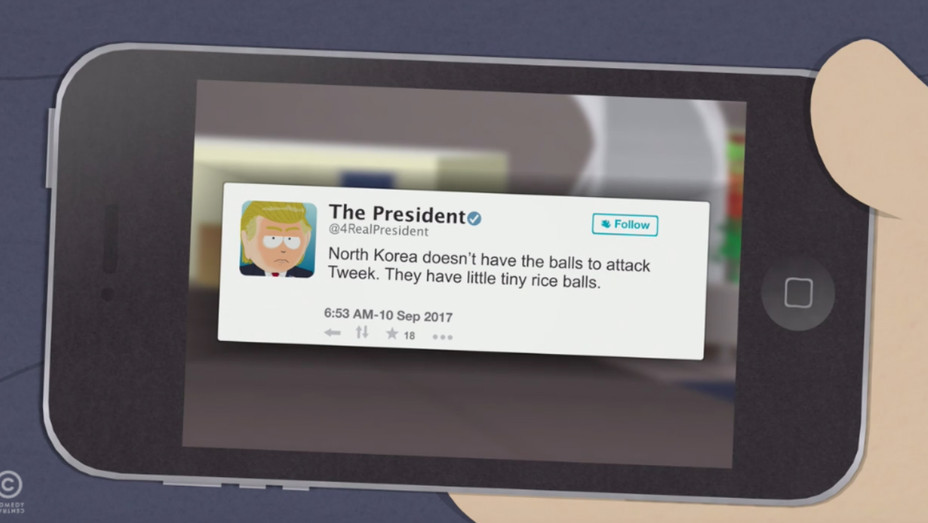 South Park Trump Tweet - H 2017