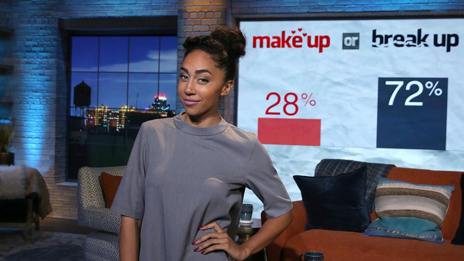 Shannon Boodram on the set of Make Up Or Break Up - Publicity- H 2017