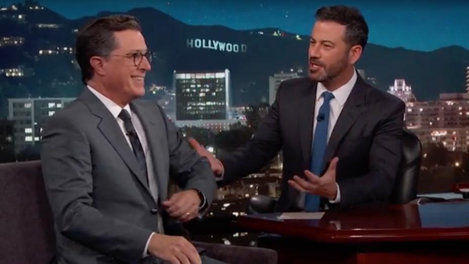Stephen Colbert on Kimmel Screenshot - H 2017